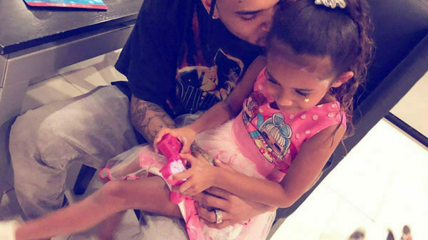 Chris Brown shares adorable image of Royalty's first day at school