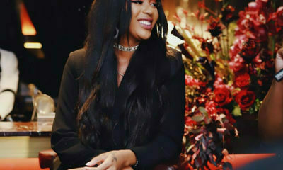 Rapper, Nadia Nakai, attends launch of her new endorsement in an all-black ensemble