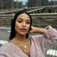 Ayanda Thabethe shares a make-up look inspired by New York Fashion Week trends