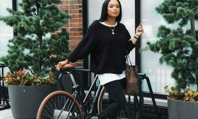 Ayanda Thabethe steps out in a monochrome outfit while in New York