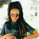 Bontle Modiselle steps out in a black latex ensemble