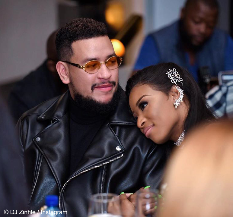 Twitter users speculate that DJ Zinhle and AKA have split after going on separate vacations
