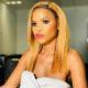 Khanya Mkangisa takes on the bright lipstick trend