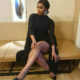 Minnie Dlamini Jones shows off her legs in a Fashion Nova LBD