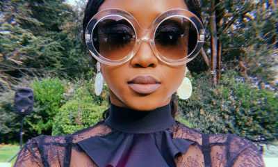 Moozlie attends Dineo and Solo's wedding in a stylish black ensemble