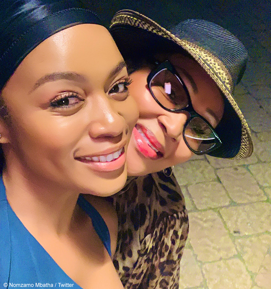 Nomzamo Mbatha and Felicia Mabuza-Suttle
