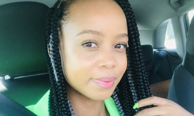 Ntando Duma matches her nails with her neon green outfit