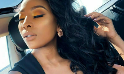 Pearl Modiadie shows off her dewy make-up look, likening her skin to pearls
