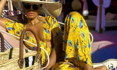 Lerato Kganyago and Pearl Thusi sport bold colourful prints