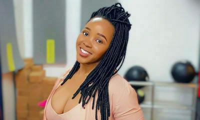 Sbahle Mpisane models for Mxolisi Luke Mkhize's showcase at the Durban Fashion Fair