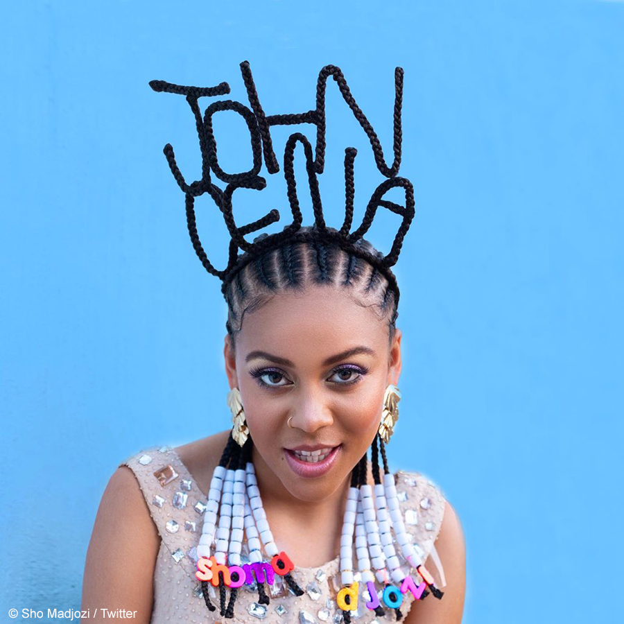 Sho Madjozi shares behind-the-scenes visuals of her John Cena hairstyle and cover art