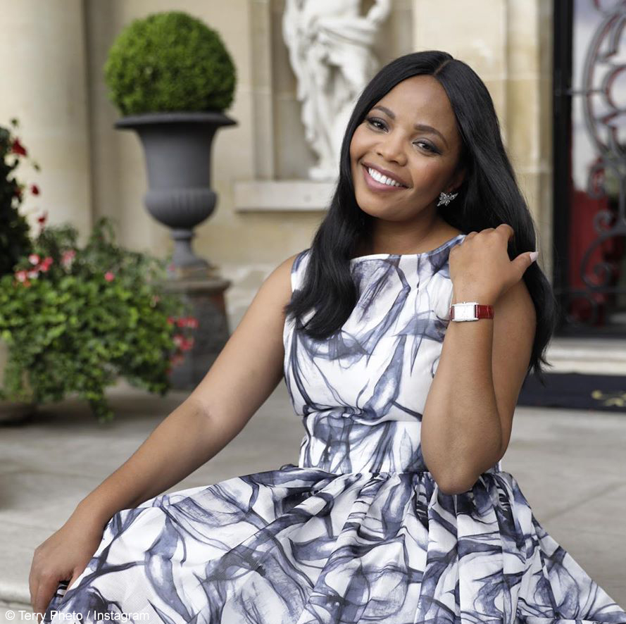 Terry Pheto poses as the cover girl for the September issue of The Afropolitan
