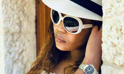 Terry Pheto showcases the latest design from watch brand, Longines