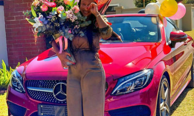 Boity surprises her mother with a Mercedes convertible for her birthday