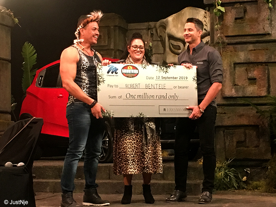 Survivor SA: Rob takes home R1 million cheque, says he will be the stingiest millionaire ever seen