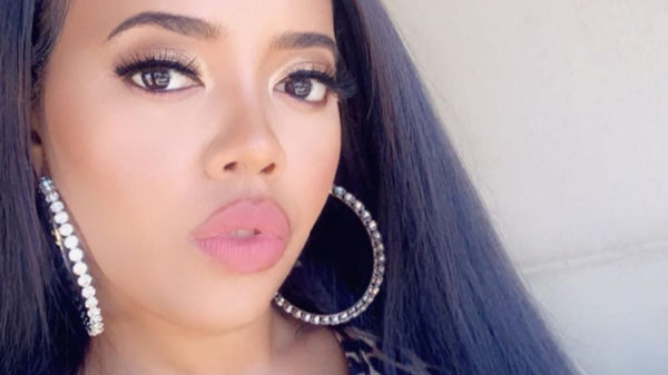 Angela Simmons showcases animal print swimsuit from Matte Collection