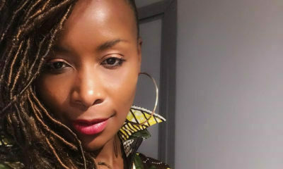 Bonnie Mbuli shares gym video of resistance band workout