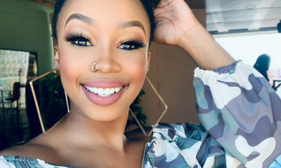 Candice Modiselle showcases a colourful make-up look