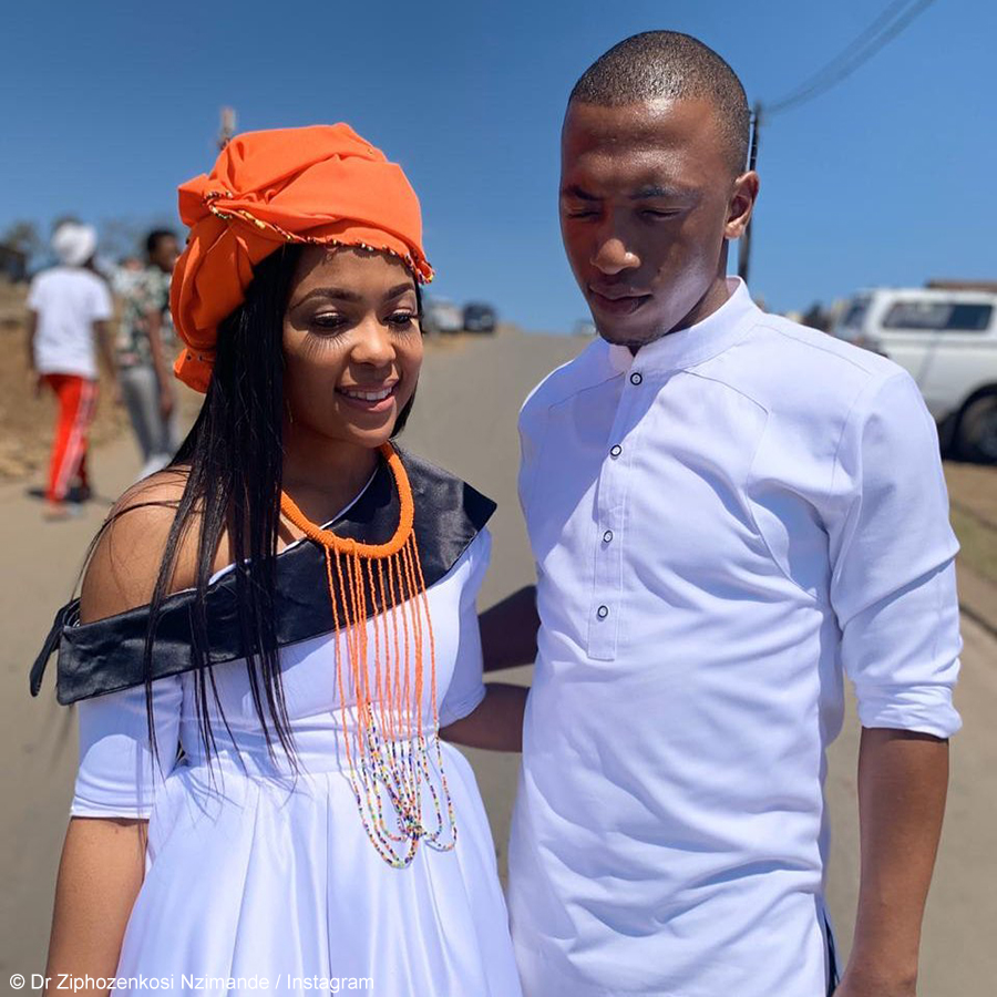Dumi Mkokstad celebrates his wife, Dr Ziphozenkosi Nzimande, for launching cancer awareness campaign
