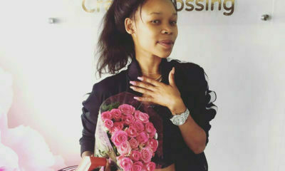 Fifi Cooper celebrates her birthday with a pink set of nails from Tammy Taylor Nails