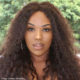 Gugu Gumede showcases a new curly hairstyle