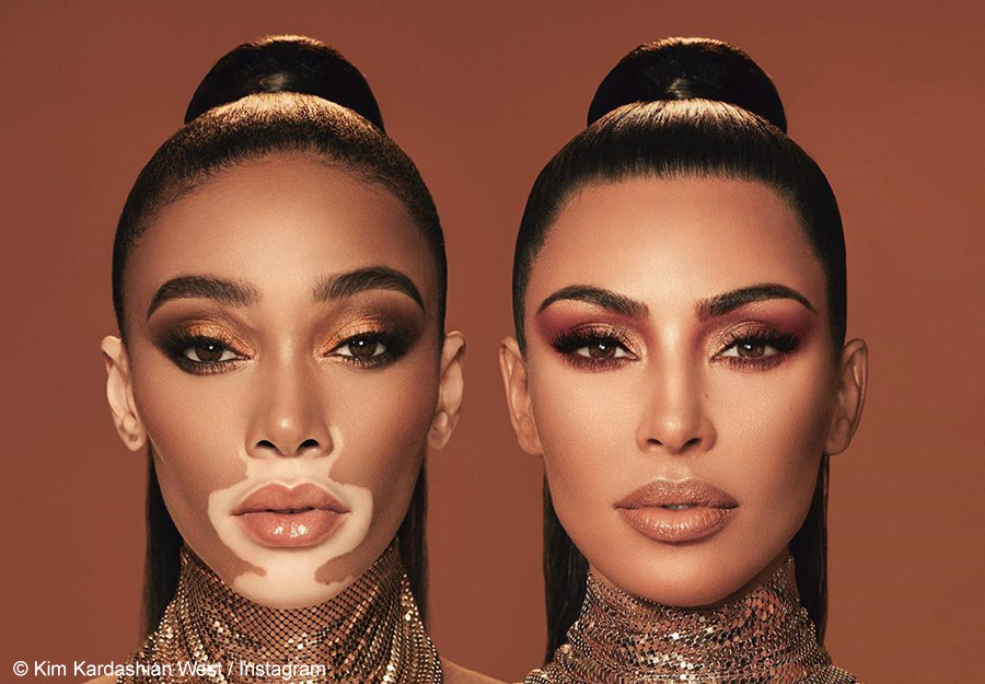 Kim Kardashian West collaborates with Winnie Harlow on a new KKW Beauty collection