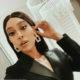 Sarah Langa Mackay wears golden makeup to The Sun Met 2020