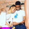 Zodwa Wabantu poses in white outfit alongside boyfriend, Vusi Ngubane