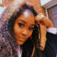 Lady Zamar changes her hairstyle, wearing her hair in crimped curls