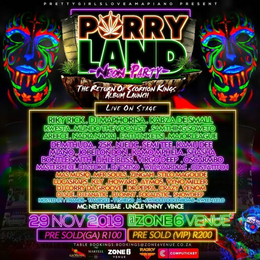 DJ Maphorisa continues to promote the Porryland Neon Party