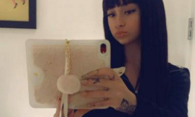 Danielle Bregoli sports a straight-fringe haircut