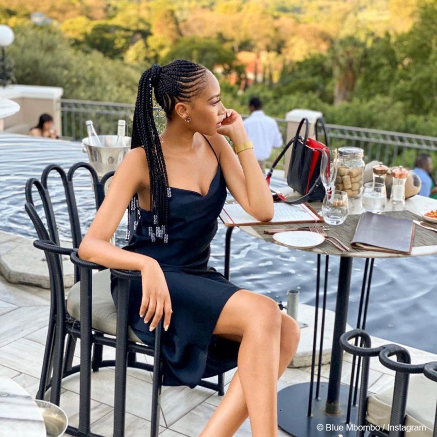 Blue Mbombo reveals her new hairstyle, black cornrow braids