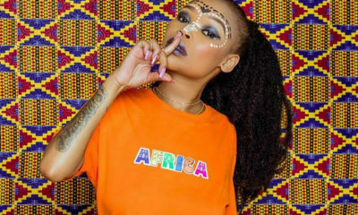Fifi Cooper showcases an African-inspired make-up look