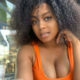 Lerato Kganyago poses in pink outfit from Lounge Apparel
