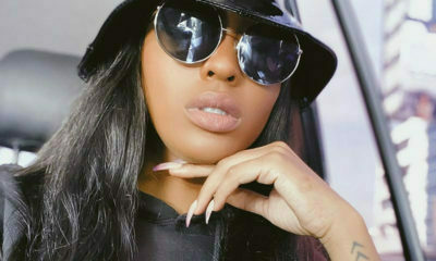 Nadia Nakai wears all-black outfit to the BBC This Is Africa launch event