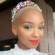 Nandi Madida showcases purple haircut