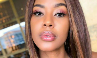 Tshepi Vundla poses in black and silver for her birthday photoshoot