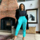 DJ Zinhle showcases perspex heels from Moozlie 's shoe collection with Silva Lux