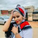Letoya Makhene wears traditional headscarf and statement red lip colour in latest Instagram post