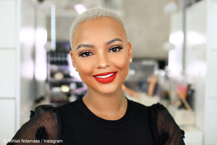 Mihlali Ndamase showcases blonde buzz cut in promotional post for Daniel Wellington