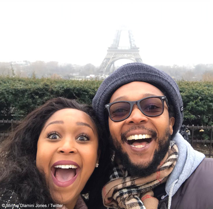 Minnie Dlamini Jones and Maphe Dlamini shares image from her stay in Paris with her brother