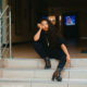 Pearl Modiadie dresses in all-black for the cold