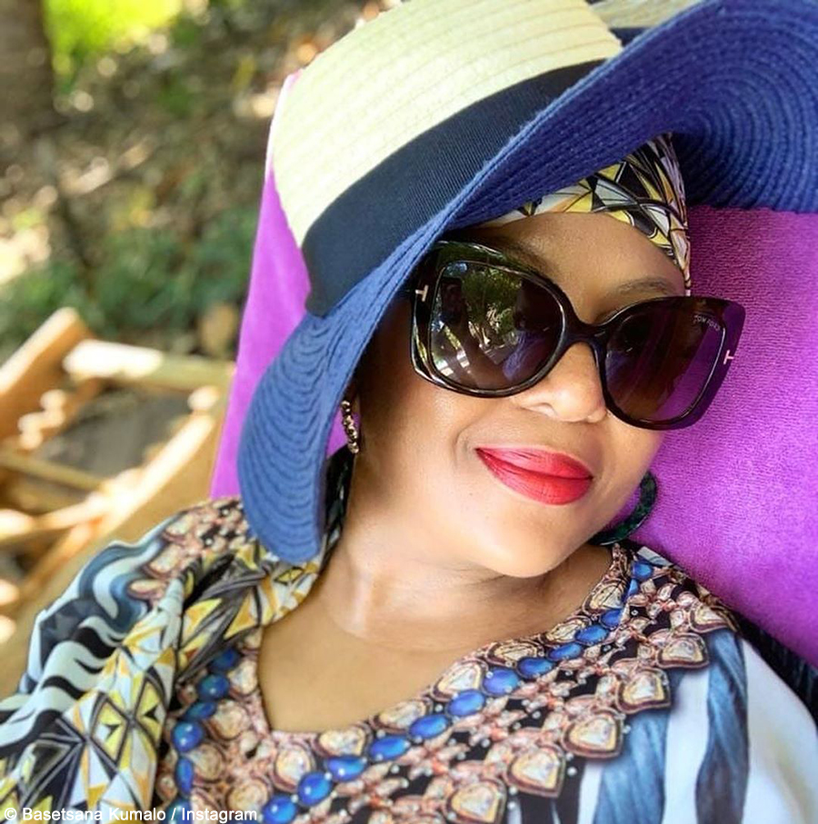 Basetsana Kumalo showcases make-up look from Somizi and Mohale's white wedding