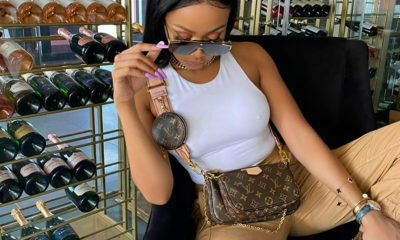 Bonang Matheba accessorises classic denim and white trend with Chanel