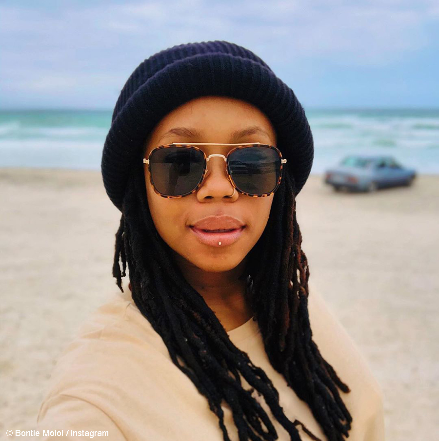 Bontle Moloi embraces her body in series of images at the beach