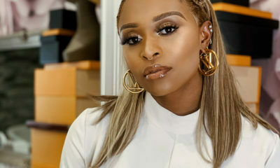 DJ Zinhle debuts blonde bob at Somizi and Mohale's white wedding