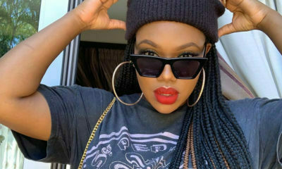 Gugu Gumede sports red lip and braids in latest Instagram post