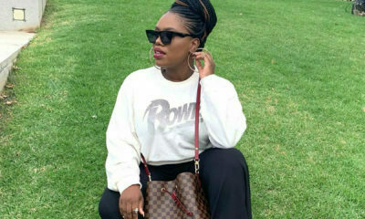 Gugu Gumede showcases cornrowed updo