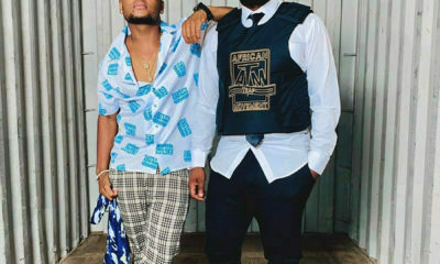 Sjava and K.O wear their own branded merchandise for Flight School music video shoot
