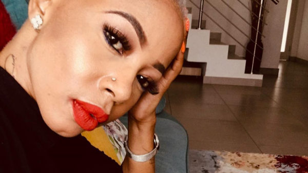 Kelly Khumalo wears head-to-toe red outfit